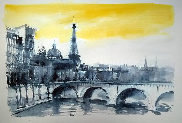 Painting - Paris View by Lorand Sipos