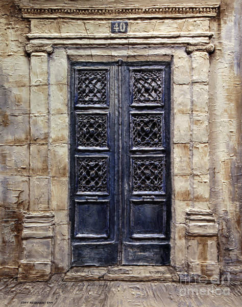 Forty Painting - Parisian Door No.40 by Joey Agbayani