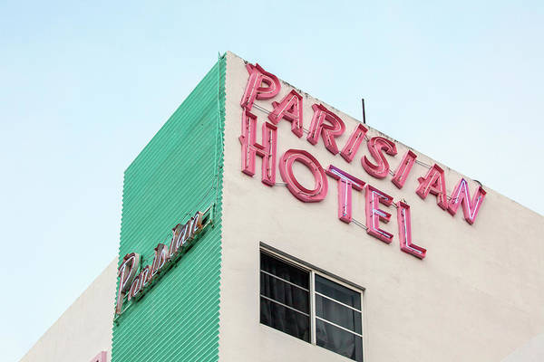 Wall Art - Photograph - Parisian Hotel South Beach by Art Block Collections