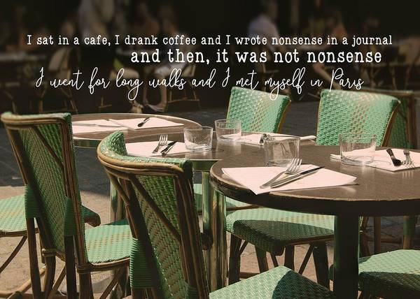 Photograph - Parisian Moment Quote by JAMART Photography