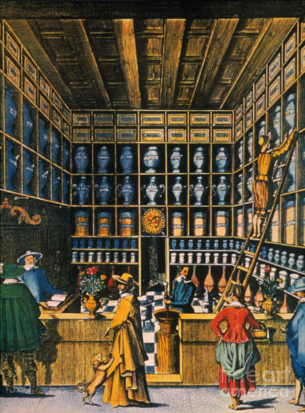 Photograph - Parisian Pharmacy, 1624 by Granger