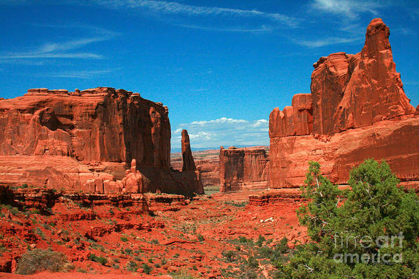 Wall Art - Painting - Park Avenue Section Arches National Park Moab Utah by Corey Ford