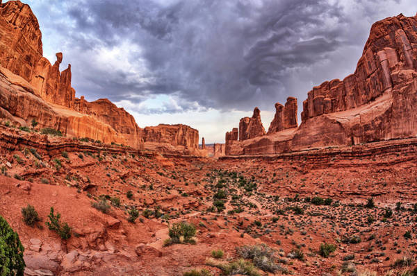 Photograph - Park Avenue With Storm Clouds - Arches Np by Kyle Lee