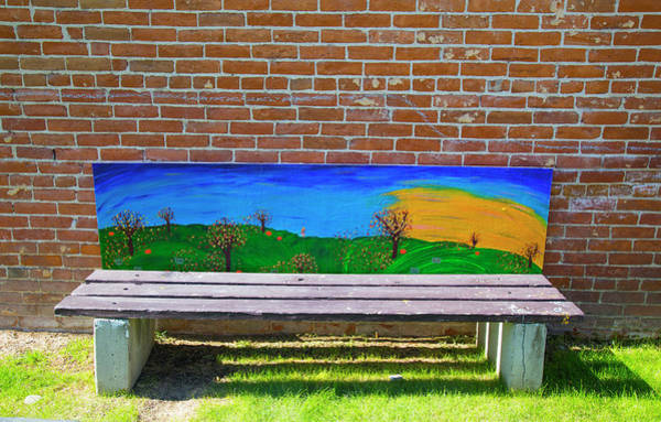 Photograph - Park Bench Emmetti Idaho by Dart and Suze Humeston