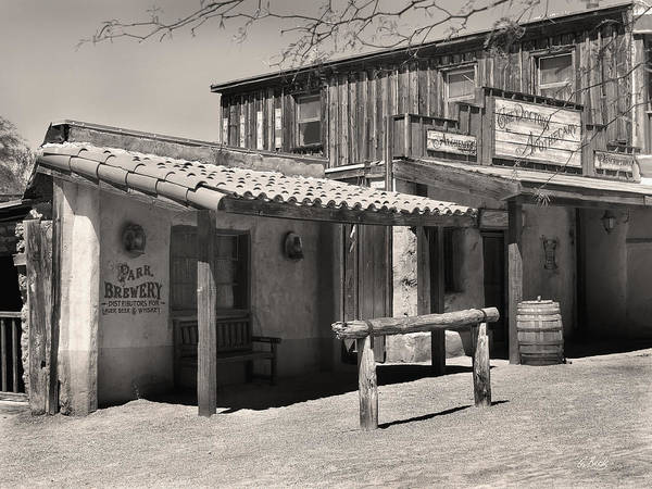 Wall Art - Photograph - Park Brewery, Old Tucson by Gordon Beck