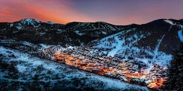Photograph - Park City Winter Sunset by Michael Ash