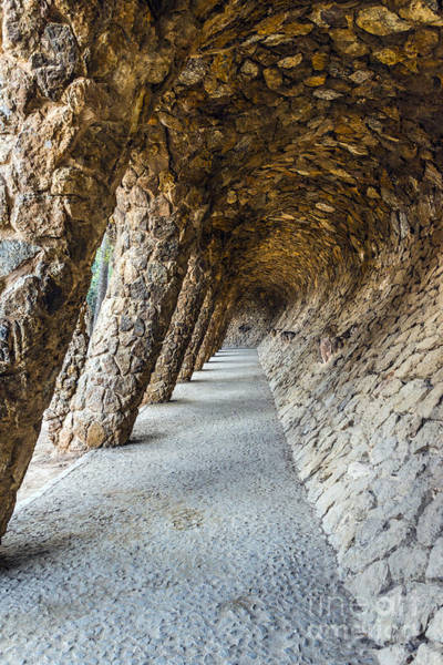 Arch Mixed Media - Park Guell by Svetlana Sewell