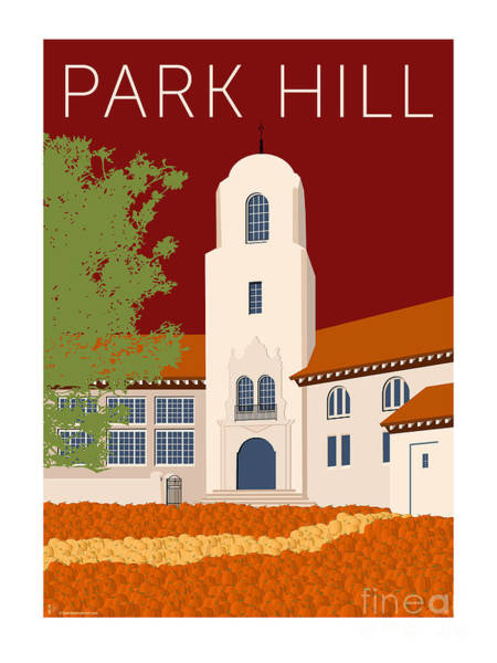 Digital Art - Park Hill Maroon by Sam Brennan