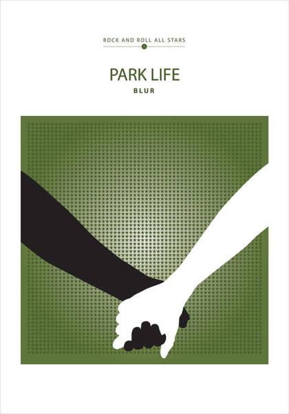 Digital Art - Park Life -- Blur by David Davies