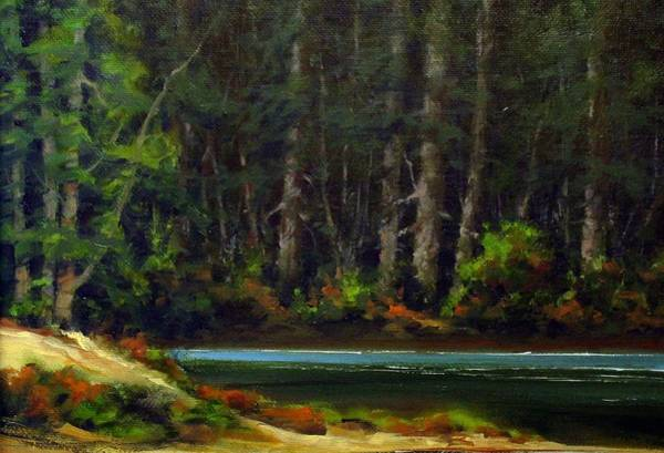 Stream Wall Art - Painting - Park Refuge by Jim Gola