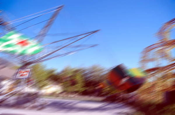 Fun Wall Art - Photograph - Park Rides 1  Flying Aces by Steve Ohlsen