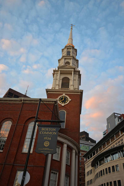 Photograph - Park Street Church Boston Common by Toby McGuire
