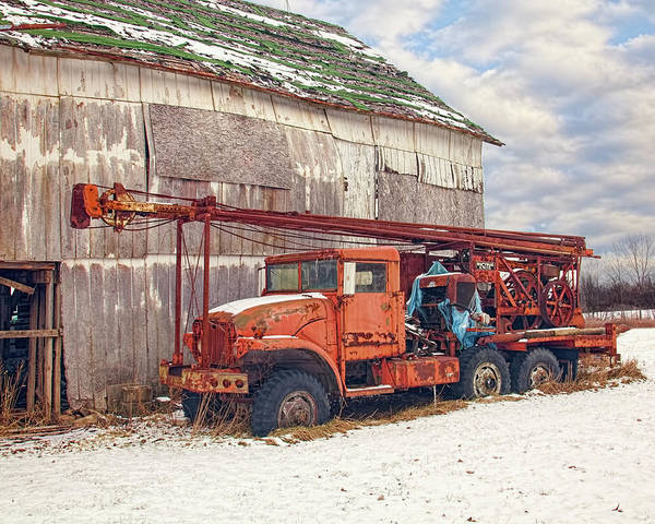 Heavy Duty Truck Wall Art - Photograph - Parked For The Winter by William Sturgell