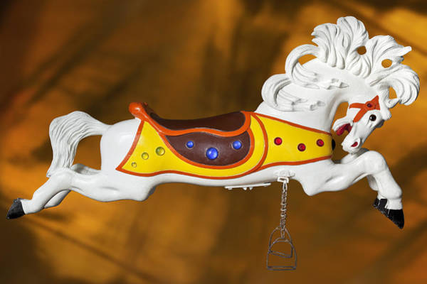 Wall Art - Photograph - Parker Flying Carousel Horse 1 by Kelley King