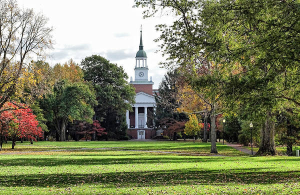 Photograph - Parker Hall - Hanover College by Sandy Keeton