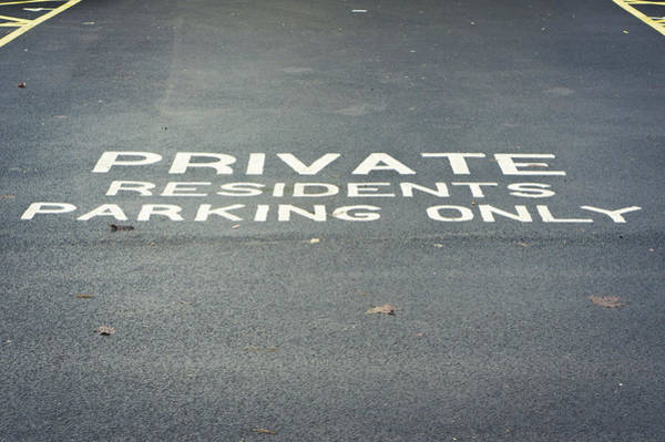Restriction Photograph - Parking Notice, by Tom Gowanlock