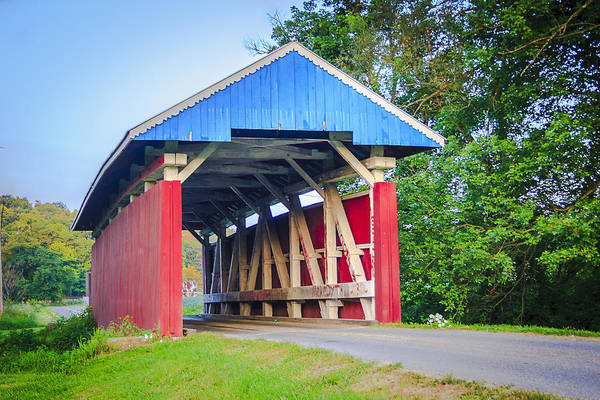 Photograph - Parks/south Covered Bridge by Jack R Perry
