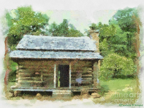 Painting - Parkway Cabin by Paulette B Wright