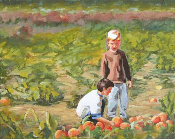 Painting - Parlee Pumpkins by Trina Teele