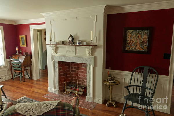 Photograph - Parlor Fireplace by Olivier Le Queinec