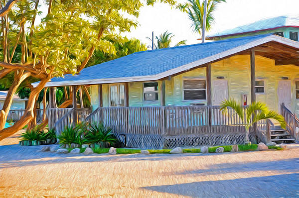 Photograph - Parmer's Resort Cottage In Keys Sunset Glow by Ginger Wakem