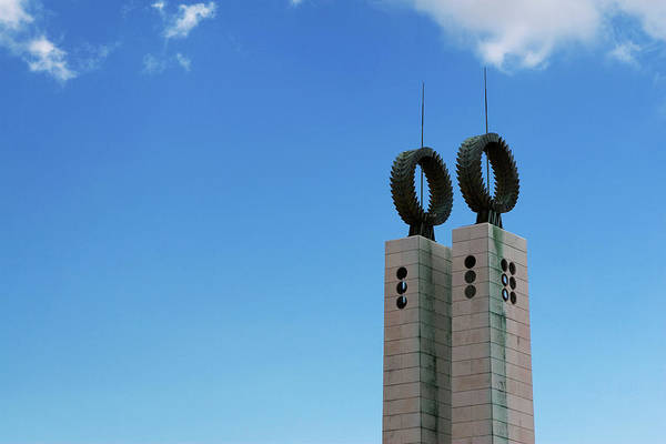 Photograph - Parque Eduardo Vll Monument Against Blue Sky by Lorraine Devon Wilke