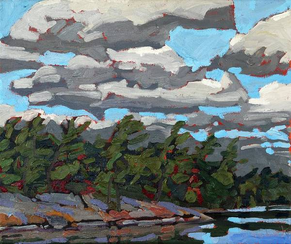 Stratocumulus Painting - Parry Sound Flagged Pines by Phil Chadwick