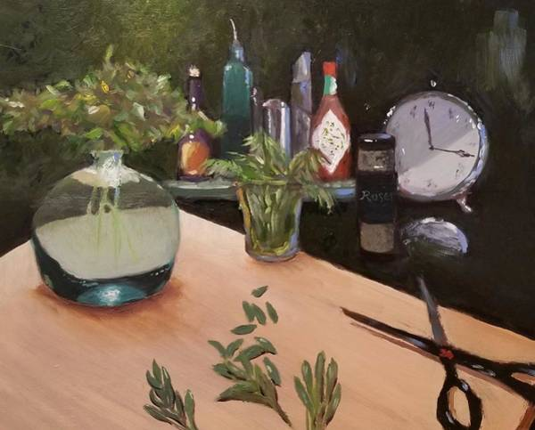 Rosemary Painting - Parsley, Sage, Rosemary, And Time by Karyn Robinson