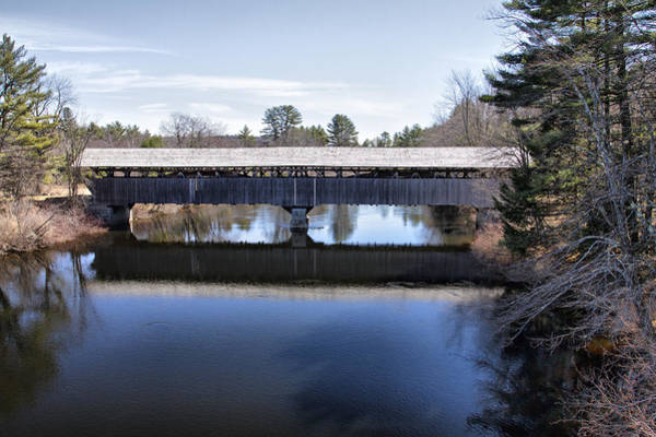 Photograph - Parsonfield Porter Covered Bridge by Betty Pauwels
