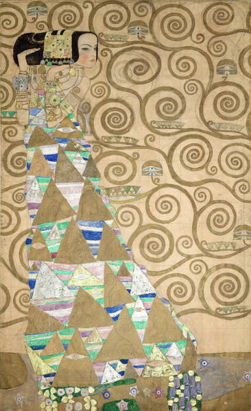 Wall Art - Painting - Part Of The Tree Of Life, Part 2 by Gustav Klimt