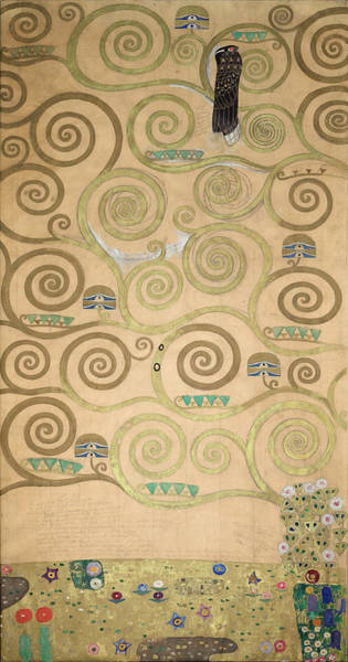 Wall Art - Painting - Part Of The Tree Of Life, Part 3 by Gustav Klimt