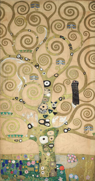 Wall Art - Painting - Part Of The Tree Of Life, Part 4 by Gustav Klimt