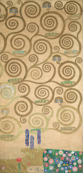 Wall Art - Painting - Part Of The Tree Of Life, Part 7 by Gustav Klimt