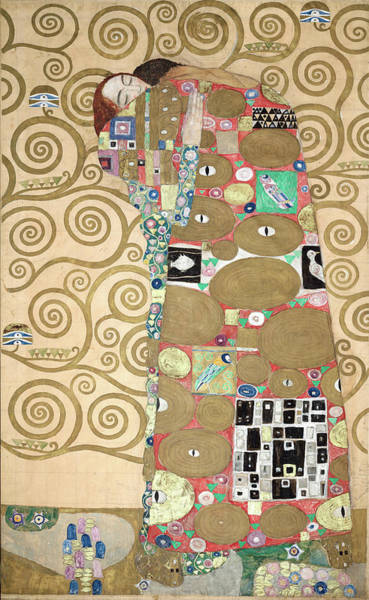 Wall Art - Painting - Part Of The Tree Of Life, Part 8 by Gustav Klimt
