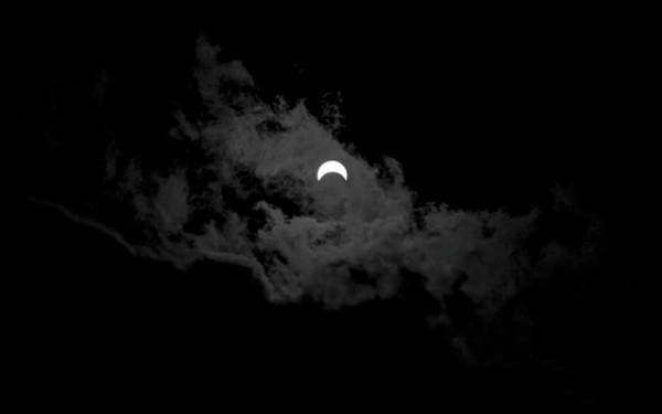 Photograph - Partial Eclipse by David P Hufstader
