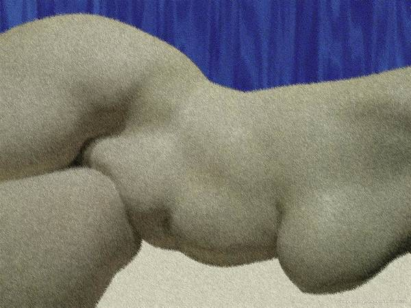 Digital Art - Partial Nude At Rest by Vincent Green