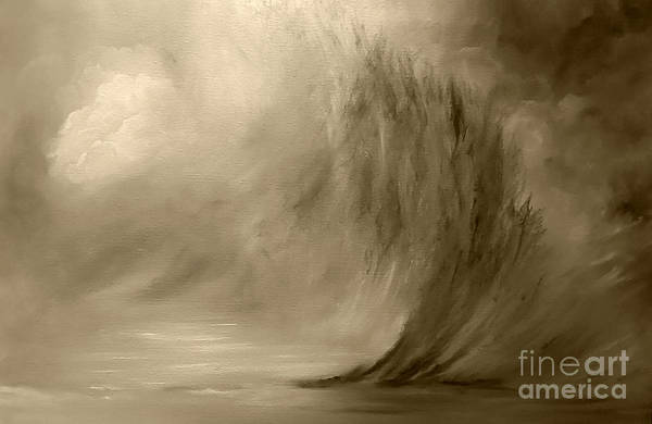 Wall Art - Painting - Parting Of The Wave by Julie Bond