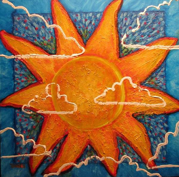 Painting - Partly Cloudy by Dennis Tawes