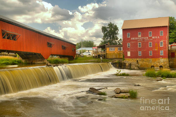 Photograph - Partly Cloudy Over The Bridgeton Spillway by Adam Jewell