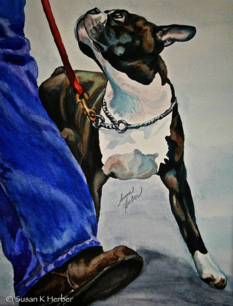 Leash Painting - Partners by Susan Herber