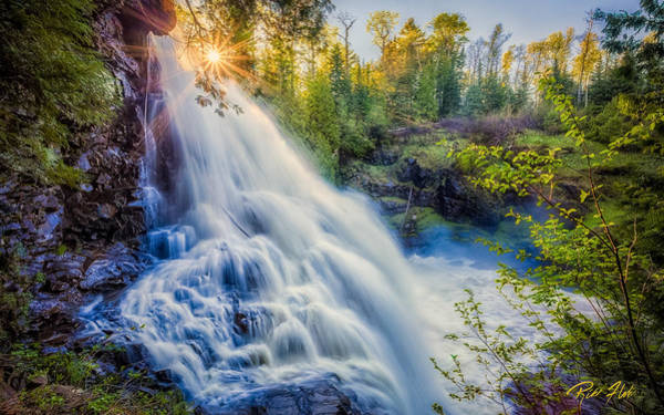 Photograph - Partridge Falls In Late Afternoon by Rikk Flohr