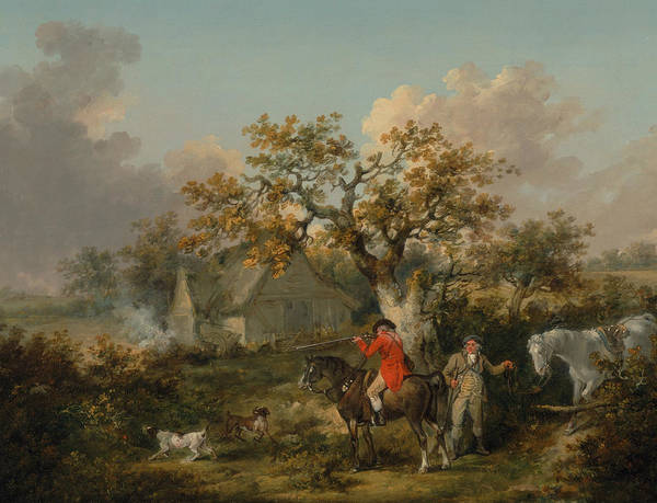 Wall Art - Painting - Partridge Shooting by George Morland