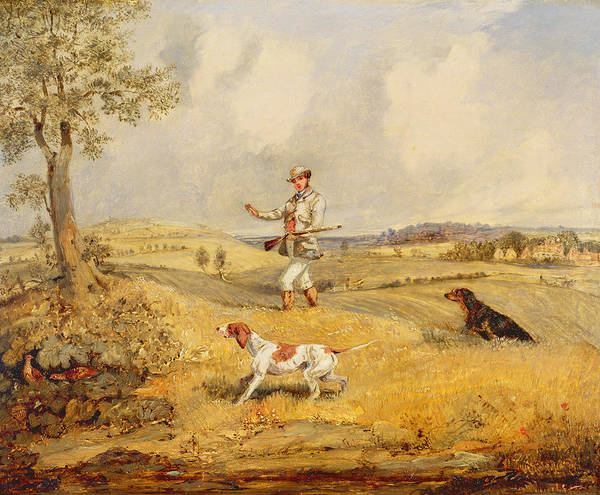 Fowl Photograph - Partridge Shooting  by Henry Thomas Alken