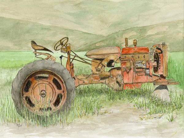 Painting - Parts Tractor by David King