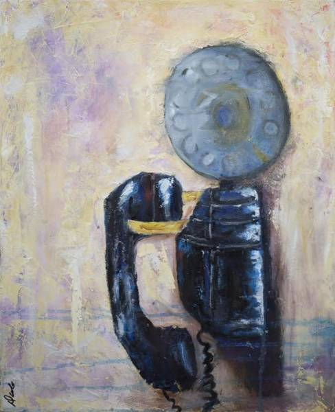 Dial Painting - Party Line IIi by Debbie Frame Weibler