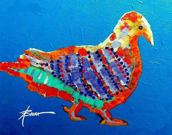 Painting - Party Pigeon by Adele Bower