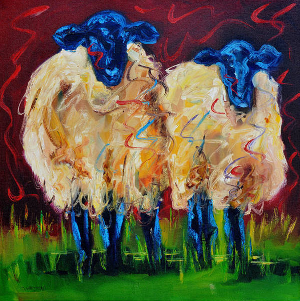 Sheep Painting - Party Sheep by Diane Whitehead