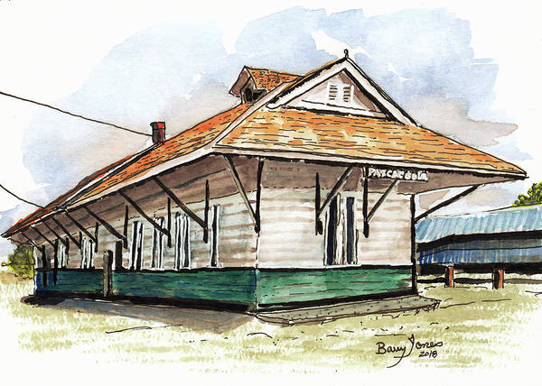 Painting - Pascagoula Train Depot by Barry Jones