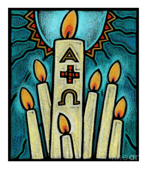 Painting - Paschal Candle - Jlpsc by Julie Lonneman