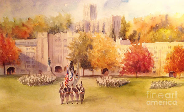 Cadets Wall Art - Painting - Pass In Review by Sandra Strohschein